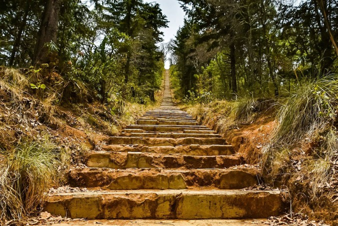 10 The 400 steps to the top rim of a dead volcano in Patzcuaro